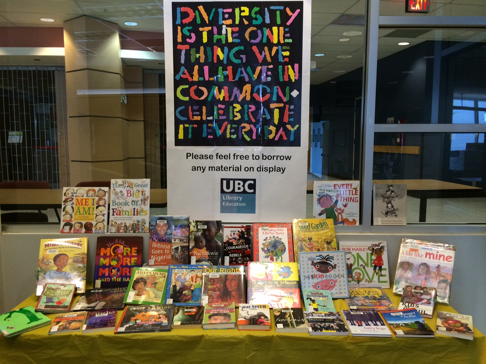 New Display At Education Library Celebrating Diversity